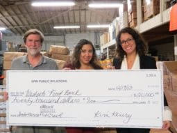 $20,000 check from Santa Monica Pub Crawl to Westside Food Bank